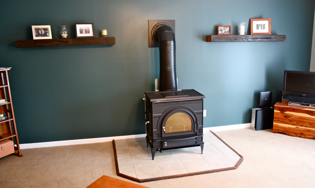 Installing A Free Standing Wood Stove From Acacia To